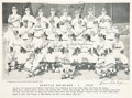 Baseball Collectibles:Photos, 1959 Seattle Rainers Team Signed Photograph....