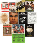 Boxing Collectibles:Memorabilia, Muhammad Ali Closed Circuit and Site Programs/Posters Lot of 12....