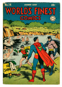 World's Finest Comics #14 (DC, 1944) Condition: VG/FN