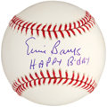 "Autographs:Baseballs, Ernie Banks ""Happy Birthday"" Inscription Single Signed Baseball...."