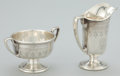 Silver Holloware, American:Creamers and Sugars, AN AMERICAN SILVER CREAMER AND SUGAR BOWL . The Sweetser Co., New York, New York, circa 1910. Marks: S&E, STERLING, 400... (Total: 2 Items)