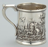 AN AMERICAN SILVER MUG Peter L. Krider Co., Philadelphia, Pennsylvania, circa 1880 Marks: (lion-K-crown), S