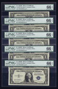 Small Size:Silver Certificates, Fr. 1618 $1 1935H Silver Certificates. Twenty-nine Examples. PMG Gem Uncirculated 66 EPQ.. ... (Total: 29 notes)