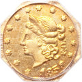 California Fractional Gold, 1853 50C Peacock Reverse 50 Cents, BG-302, Low R.4, MS63 PCGS....
