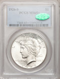 Peace Dollars, 1926-S $1 MS65+ PCGS. CAC....