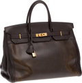 Luxury Accessories:Bags, Hermes 40cm Amazonia & Ebene Togo Leather Birkin with GoldHardware. ...