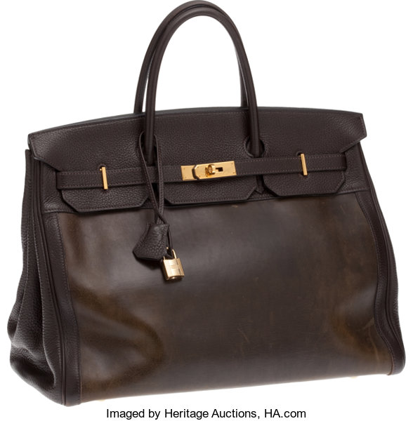 ca956bd2ef Hermes 40cm Amazonia   Ebene Togo Leather Birkin with