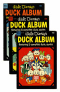 Golden Age (1938-1955):Cartoon Character, Four Color Walt Disney's Duck Album Group (Dell, 1953-61)Condition: Average VG+.... (Total: 8 Comic Books)