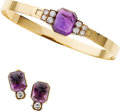 Estate Jewelry:Suites, Amethyst, Diamond, Gold Jewelry Suite, Cartier. ... (Total: 2Items)
