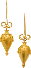 Estate Jewelry:Earrings, Gold Amphora Earrings. ... (Total: 2 Pieces)