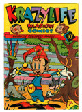 Golden Age (1938-1955):Funny Animal, KrazyLife #1 (Fox, 1945) Condition: VF+....