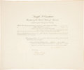"Autographs:U.S. Presidents, Dwight D. Eisenhower Appointment Signed as president. Onepartially-printed page, 23"" x 19"", Washington, August 15, 1953,co..."