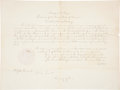 """Autographs:U.S. Presidents, Rutherford B. Hayes Document Signed """"R. B. Hayes"""" aspresident. One page, 20"""" x 15"""", """"City of Washington,"""" June18, ..."""