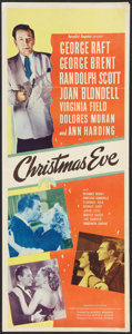 "Movie Posters:Comedy, Christmas Eve (United Artists, 1947). Insert (14"" X 36""). Comedy....."