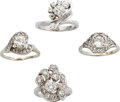 Estate Jewelry:Suites, Diamond, White Gold Rings. ...