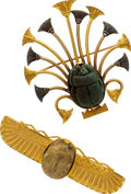 Estate Jewelry:Brooches - Pins, Victorian Etruscan Revival, Gold Brooches. ...