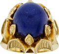Estate Jewelry:Rings, Lapis Lazuli, Gold Ring. ...