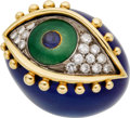 Estate Jewelry:Rings, Diamond, Sapphire, Enamel, Gold Ring. ...
