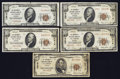 National Bank Notes:Missouri, Saint Louis, MO - The Boatmen's NB Ch. # 12916. ... (Total: 5notes)