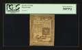 Colonial Notes:Pennsylvania, Pennsylvania October 25, 1775 18d PCGS Choice About New 58PPQ.. ...