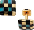 Estate Jewelry:Cufflinks, Opal, Black Onyx, Gold Cufflinks, Angela Cummings. ...