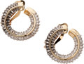 Estate Jewelry:Earrings, Diamond, Gold Earrings. ... (Total: 4 Items)
