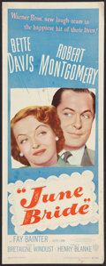 """Movie Posters:Comedy, June Bride (Warner Brothers, 1948). Insert (14"""" X 36""""). Comedy.. ..."""