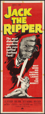 """Jack the Ripper (Paramount, 1960). Insert (14"""" X 36""""). Mystery"""