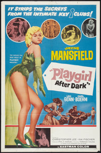 "Playgirl After Dark (Topaz, 1962). One Sheet (27"" X 41"") Style B. Sexploitation"