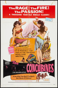 """The Concubines (Boxoffice International Pictures, 1971). One Sheet (27"""" X 41"""") and Photos (8) (8"""" X 10&qu..."""