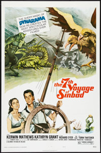 """The 7th Voyage of Sinbad Lot (Columbia, R-1975). One Sheets (3) (27"""" X 41"""") Style B. Fantasy. ... (Total: 3 It..."""