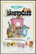 "Movie Posters:Animated, The Aristocats (Buena Vista, 1971 & R-73). One Sheets (2) (27"" X 41""). Animated.. ... (Total: 2 Items)"
