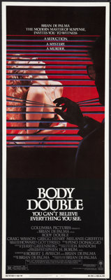 "Body Double Lot (Columbia, 1984). Inserts (3) (14"" X 36""). Mystery. ... (Total: 3 Items)"