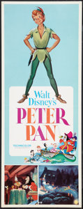 "Movie Posters:Animated, Peter Pan Lot (Buena Vista, R-1969). Inserts (2) (14"" X 36"").Animated.. ... (Total: 2 Items)"