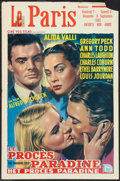 "Movie Posters:Hitchcock, The Paradine Case (Cine Vog, R-1962). Belgian (14"" X 22"").Hitchcock.. ..."