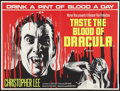 "Movie Posters:Horror, Taste the Blood of Dracula (Warner Brothers, 1970). British Quad (30"" X 40""). Horror.. ..."