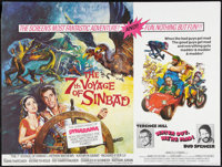 """The 7th Voyage of Sinbad/ Watch Out, We're Mad! Combo (Columbia, R-1974). British Quad (30"""" X 40""""). Fantasy..."""