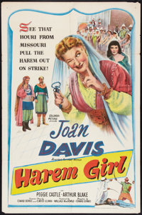 "Harem Girl (Columbia, 1952). One Sheet (27"" X 41""). Comedy"