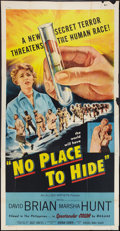 """Movie Posters:Thriller, No Place to Hide (Allied Artists, 1956). Three Sheet (41"""" X 81""""). Thriller.. ..."""