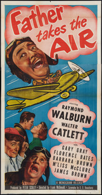 """Father Takes the Air (Monogram, 1951). Three Sheet (41"""" X 81""""). Comedy"""