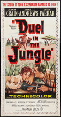 "Movie Posters:Action, Duel in the Jungle (Warner Brothers, 1954). Three Sheet (41"" X 81""). Action.. ..."