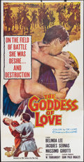 "Movie Posters:Romance, The Goddess of Love (20th Century Fox, 1960). Three Sheet (41"" X 81""). Romance.. ..."
