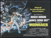 "Moonraker (United Artists, 1979). British Quad (30"" X 40""). James Bond"