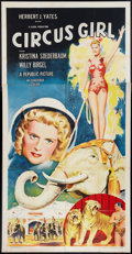 "Movie Posters:Adventure, Circus Girl (Republic, 1956). Three Sheet (41"" X 81""). Adventure....."