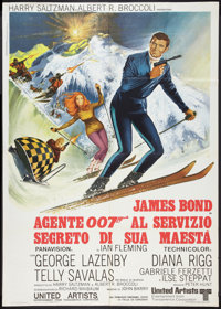 "On Her Majesty's Secret Service (United Artists, 1969). Italian 2 - Foglio (39"" X 55""). James Bond"