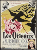 """Movie Posters:Hitchcock, The Birds (Universal, 1963). French Affiche (22"""" X 30"""").Hitchcock.. ..."""
