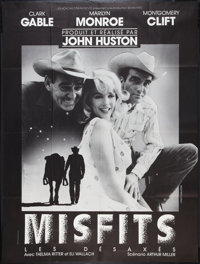 """The Misfits (United Artists, R-1970s). French Grande (46"""" X 61""""). Drama"""