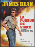 """Movie Posters:Drama, Rebel Without a Cause (Warner Brothers, R-1970s). French Affiche (22.5"""" X 30""""). Drama.. ..."""