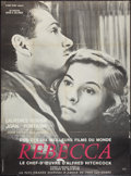 "Movie Posters:Hitchcock, Rebecca (United Artists, R-1960s). French Grande (47"" X 63"").Hitchcock.. ..."