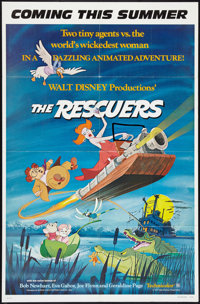 "The Rescuers (Buena Vista, 1977). One Sheets (2) (27"" X 41"") and French Deluxe Lobby Card Set (18) (10.25""..."